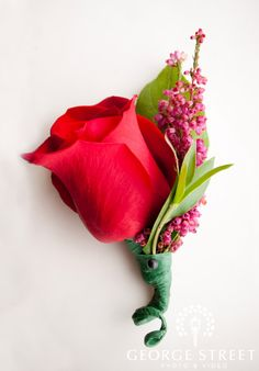 boutonnieres - single red rose