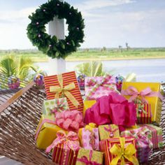 "These packages give new meaning to the term ""Merry and Bright"". Add some bright, fun colors under the tree this year."