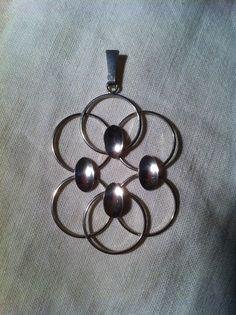 H C Østrem, Norway. Modernist silver pendant.