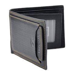 Men Wallet Pockets Money Purse ID Credit Card Clutch Bifold Black PU #Wallet #Black #Mens Wallet