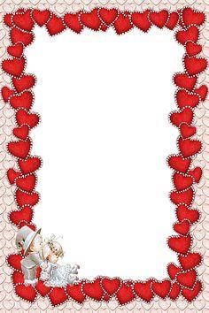 red frames png | Valentines Transparent Red Frame