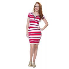 Vestido Stripe Vermelho - Hapuk