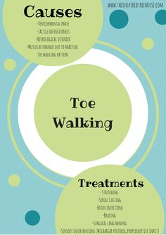 Toe Walking: info on child physical development