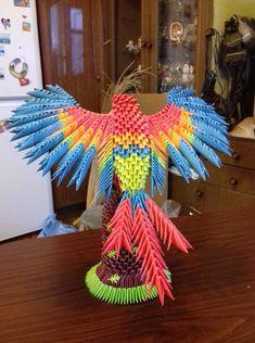 Модульные оригами — Я учусь   OK.RU Origami And Quilling, Origami Bird, Origami Heart, Origami Animals, Paper Crafts Origami, Diy Origami, Creative Crafts, Diy And Crafts, 3d Origami Tutorial