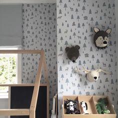 childrens room interior design: woodland themed boys room playroom | Room to Bloom