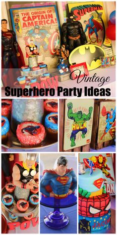 Great superhero comic book birthday party ideas! See more party ideas at CatchMyParty.com.