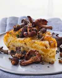 Baked Butternut Squash | This crusty baked polenta is swirled with mashed butternut squash and smoked Gouda cheese.