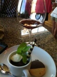 Chocolate Mousse and Pinot Pairing from Hawk View Cellars