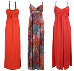 ethnic red maxi dresses pattern