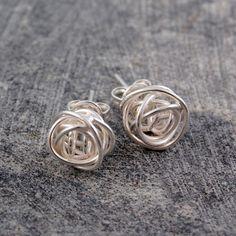 Wire wrapped earrings.