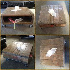 industrial pallet coffee table by upchunkfurniture on Etsy