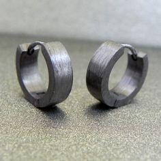 Men's hoop earrings