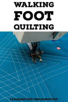 Stitch your quilts up a notch with easy walking foot quilting! This new book by Leah Day features 30 walking foot quilting designs and 7 beautiful quilts. Quilting For Beginners, Quilting Tips, Quilting Tutorials, Quilting Projects, Longarm Quilting, Hand Quilting, Sewing Projects, Machine Quilting Patterns, Quilting Templates