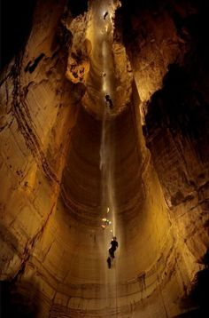 Mammoth Cave National Park, Central Kentucky, USA. The longest known cave system in the world. There are over 400 miles of caves that have been explored.