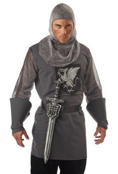 Knight Sword with Crusader Sheath - Medieval Costumes $12.31