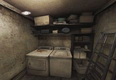 Silent Hill The Room - Laundry Room. Vampire Masquerade, Alien Isolation, Silent Hill, Bioshock, Bookcase, Laundry Room, Videogames, Horror, Gaming
