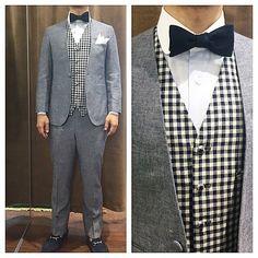 新郎衣装 カジュアルな結婚式に向けたノーカラースーツとべストスタイル : 結婚式の新郎衣装に関するお話 カジュアルウェディングまとめ