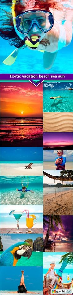 Exotic vacation beach sea sun 14x JPEG  stock images