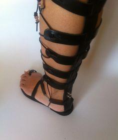 leather sandalsgladiator sandalsgreek by chicbelledejour on Etsy