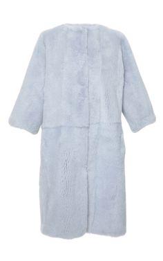 Manteau bleu ciel Mink par Dolce & Gabbana pour Précommande Moda Operandi