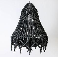 Black Stratus Design Pendant by Indigo Love Collective | The Block Shop