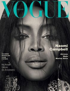Magazine photos featuring Naomi Campbell on the cover. Naomi Campbell magazine cover photos, back issues and newstand editions. Vogue Covers, Vogue Magazine Covers, Fashion Magazine Cover, Fashion Cover, Hayden Williams, Serena Williams, Naomi Campbell, Linda Evangelista, Christy Turlington