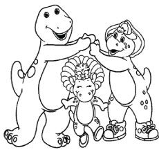 Baby bop and bj coloring sheet coloring pages for Baby bop coloring pages