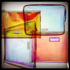 Holographic makeup bags = so dreamy