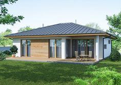 Village House Design, Village Houses, 1 Story House, Dream House Plans, Home Fashion, Gazebo, Garden Design, Floor Plans, Outdoor Structures