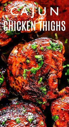 #cauliflowerrice #chickenrecipes #chickenthighs #cauliflower #ovenroasted #flavorful #delicious #prepared #tastiest #roasted #chicken #served #thighs #simple #cajun Roasted Cajun Chicken Thighs - Flavorful and juicy oven-roasted chicken thighs prepared with the taRoasted Cajun Chicken Thighs - Flavorful and juicy oven-roasted chicken thighs prepared with the tastiest cajun rub and served over simple, but delicious cauliflower rice.Roasted Cajun Chicken Thighs - Flavorful and juicy oven-ro... Oven Roasted Chicken Thighs, Chicken Thigh Recipes Oven, Cajun Chicken Recipes, Oven Chicken, Crockpot Chicken Thighs, Boneless Skinless Chicken Thighs, Garlic Chicken, Cajun Cooking, Cooking Recipes