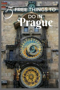 The Astronomical Clock is one of the 5 free things to do in Prague with kids | Czech Republic or Czechia with kids