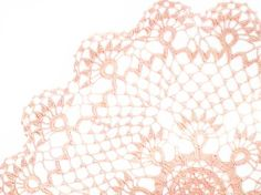 Pink Doily Vintage Round Doily 1950s by TheWildRoses on Etsy, $25.00 #teamdream