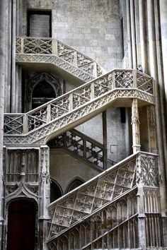 Escalier des libraires - Cathédrale de Rouen -