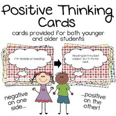 This deck was designed to help students learn how to change negative thoughts into positive ones. It's helpful for students who struggle with depression, anxiety, low self-esteem, or other mental health issues.  The download includes 2 separate decks – a version for older students and a version for younger students – as well as an ink-friendly version of each deck!
