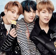 The holy trinity of my bangtan biases