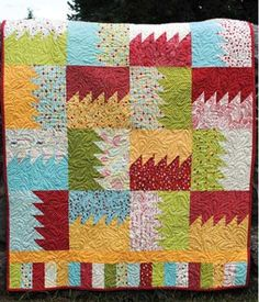 I want to make this quilt with the Oh Clementine fabric when I get it.