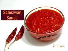 Schezwan Sauce Recipe   Homemade Schezwan Sauce   Chinese Sauce   kabitaskitchen - YouTube