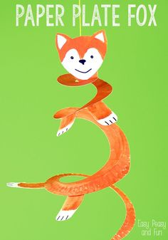 Paper Plate Fox - Crafts for Kids - Easy Peasy and Fun