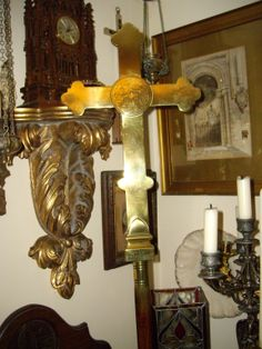 Large Brass 19th Century Processional Cross