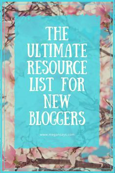 Since I started my blog, I have been getting a lot of questions about which resources I use most often and ones that I couldn't do without! So I've decided to put together my ultimate resource list for new bloggers (and maybe some seasoned bloggers might find it helpful too!).