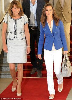 Fan: The Dukan Diet is said to be followed by the Duchess of Cambridge¿s mother Carole Middleton, left, pictured with daughter Pippa