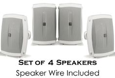 Yamaha All Weather Indoor  Outdoor Wall Mountable Natural Sound 120 watt 2way Acoustic Suspension Speakers Set of 4 White with 5 High Compliance Woofer 12 PEI Dome Tweeter  Wide Frequency Response  100 ft 16 Gauge Speaker Wire  Compatible with All Audio  Video Receivers Components CD Players  Home Theater Sound Systems -- Want to know more, click on the image-affiliate link. #HomeAudioSpeakersSurroundSoundSystems