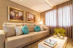 Sala de estar living room tv sofá couch  DuoTraço Arquitetura