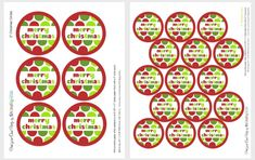 free christmas tag printable (and the chocolate covered pretzels on the page look quite tasty)