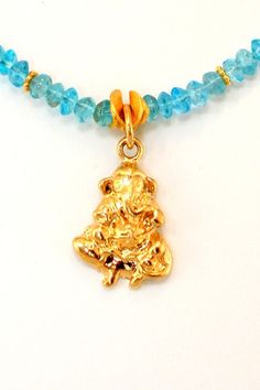 The Ganesh Project - Blue Apatite (Gold)