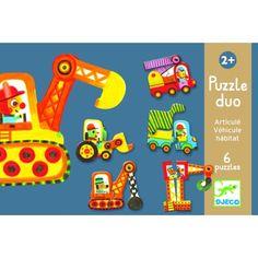 Djeco Puzzle Duo Fahrzeuge - www.