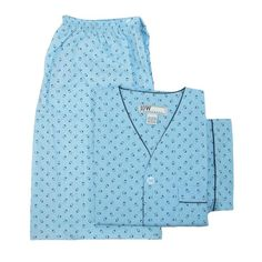 These classically styled short sleeve, short leg pajamas are great for cool comfort any time of year. The button front shirt features a convenient patch pocket. The short pants feature an elastic waistband with a 2 button adjustable closure for a perfect fit.