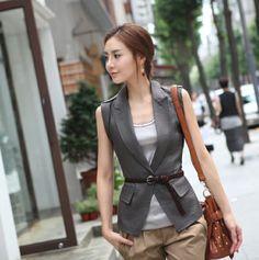 Special Fashion springsummer 2012 Korean skinny solid color vest - US$ 20.24