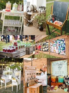 Creative Ways to Serve #Wedding #Drinks Mood Board from The Wedding Community