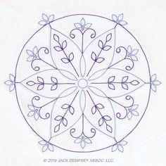 Simple Mandala quilt blocks   jack Dempsey needle Art